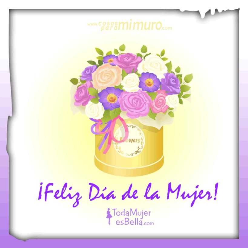 Feliz Día de la Mujer - montón de flores