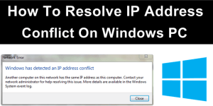 resolve ip address conflict on windows