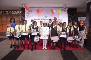 Participants at the 2018 World Robot Olympiad (WRO) Nigeria held on Saturday, Sept 15, 2018, in Lagos. (NAN-Photo)