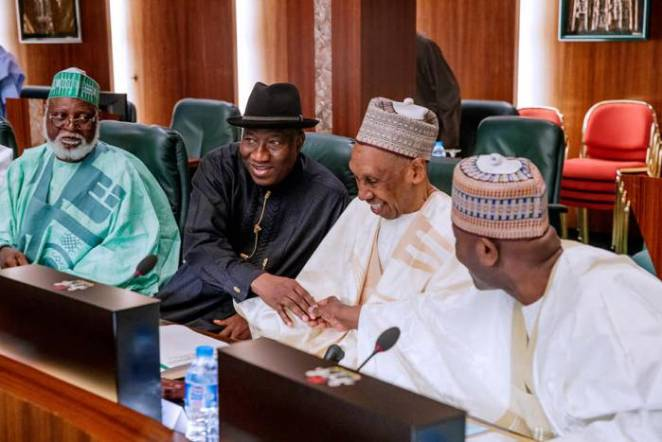 President Buhari presides over National Council of State Meeting in State House on 22nd Jan 2019-5