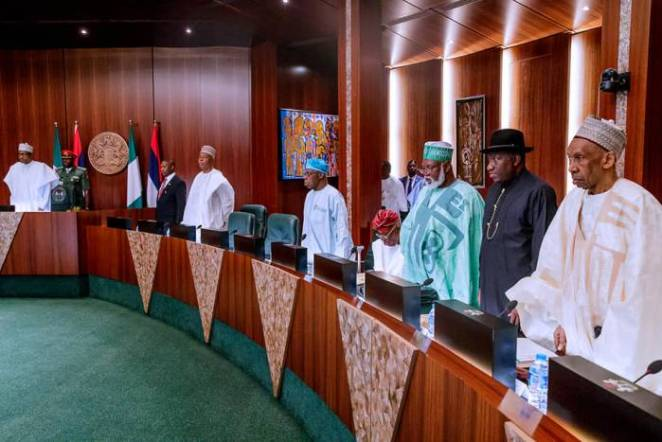 President Buhari presides over National Council of State Meeting in State House on 22nd Jan 2019-7