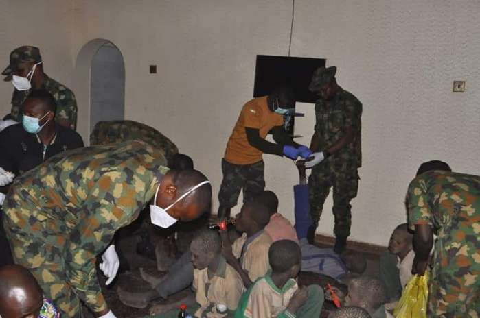 6. The Defence Headquarters has claimed that troops rescued the over 300 students of Government Science Secondary School, Kankara, Katsina, abducted by bandits on December 11.