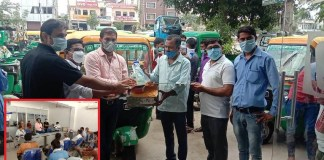 The one-day seminar was organized by Balaji Motors to make auto drivers aware of the corona epidemic.