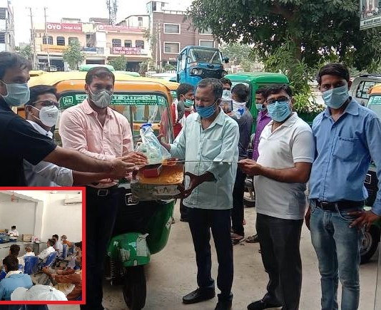 The one-day seminar was organized by Balaji Motors to make auto drivers aware of the corona epidemic.