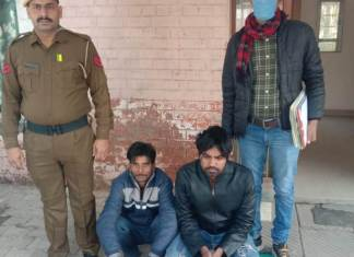 Badkhal Crime Branch 48 arrested 2 accused for stealing vehicle silencer