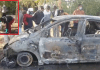 Dead body of a youth found in a car in a burnt state on a deserted road in Sector 88, Faridabad