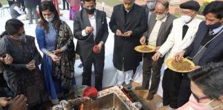 2021 reception on the premises of human creation with prayers for world peace and Maha Mrityunjaya Yagya