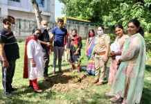 Mahila Thana NIT and social service organization Human Legal Aid and Crime Control Organization celebrated Environment Day by planting saplings