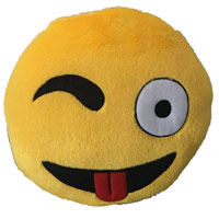 Tickles Yellow Whatsapp sofa Smiley Emoticon