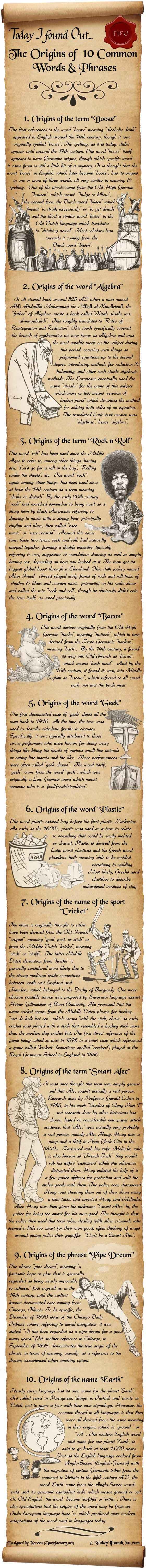 The Origins of 10 Common Words and Phrases
