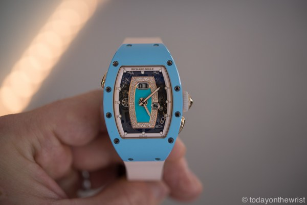 Женские часы Richard Mille RM037 Blue Ceramic & Red Gold