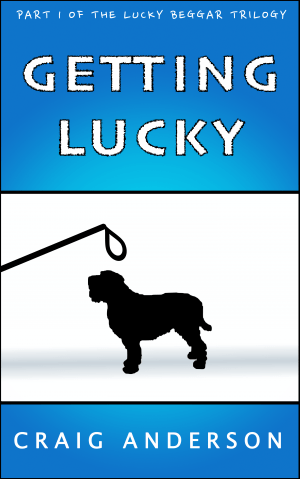 The front cover for Getting Lukcy
