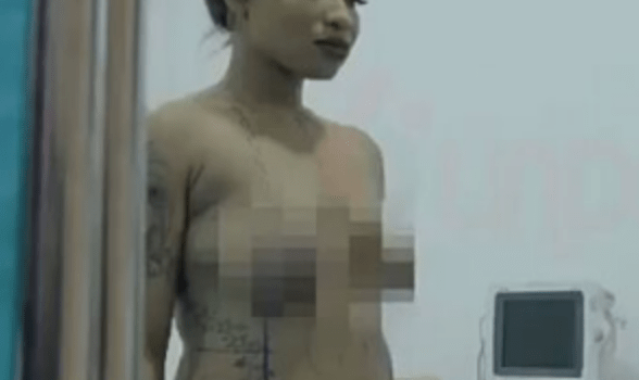 Tonto Dikeh goes nude, shares scenes from plastic surgery in reality show (video)