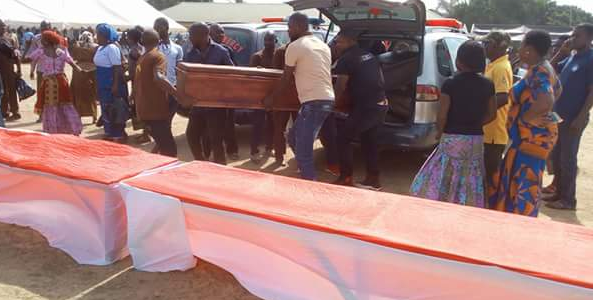 Photos from mass burial organized for 24 Fulani herdsmen killed in Benue