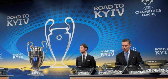 UCL quarterfinal draw: two English teams to meet