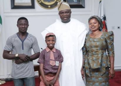 Governor Ambode sponsors young boy who drew portrait of Macron (photos)