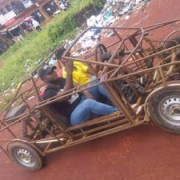 Student becomes cynosure of all eyes as he storms campus in his hand made car