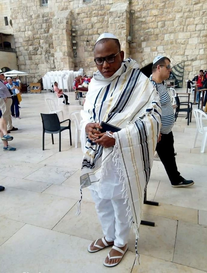 IPOB Leader, Nnamdi Kanu spotted in Jerusalem (Photos & Video)
