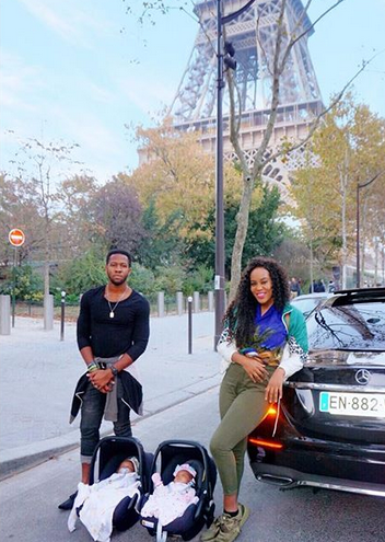 Emma Nyra finally shows off her twins [Photos]