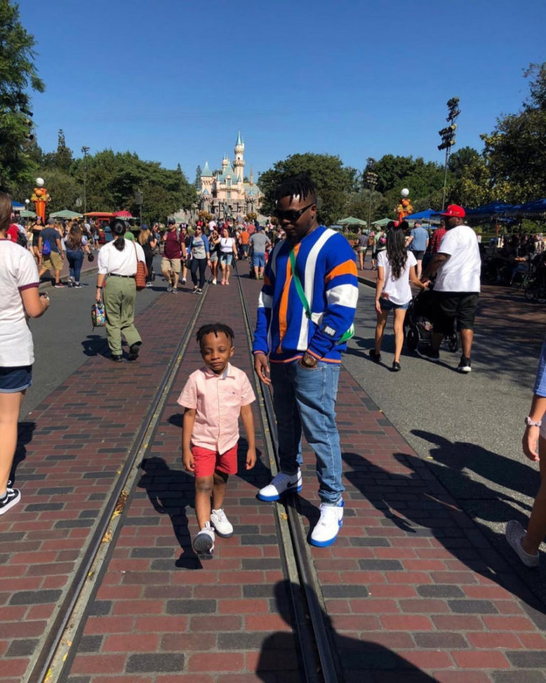 Olamide visits Disneyland with son (photos)