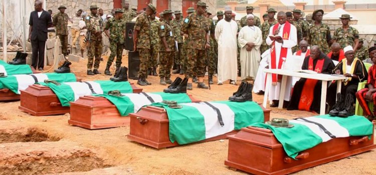 Image result for Army organises Private Burial for Over 100 Soldiers killed by Boko Haram – Report
