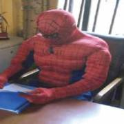 ASUU strike: Anambra Varsity Lecturer disguises as Spiderman to teach students