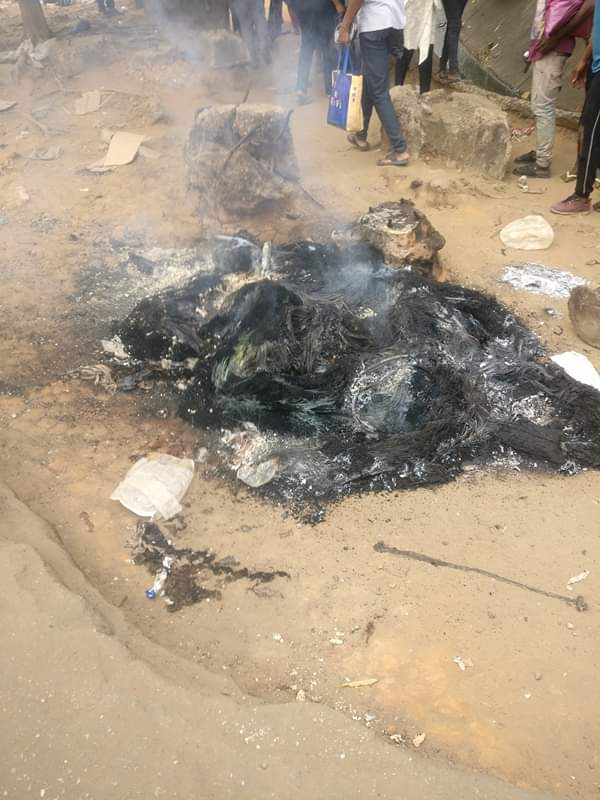 Bus conductor set ablaze for stabbing passenger do death Over N100 change
