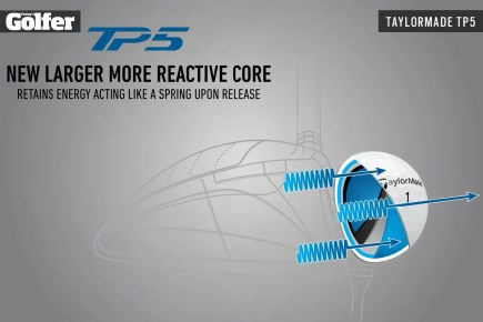 The tech in TaylorMade's TP5 golf ball for 2021.