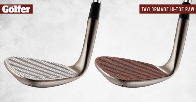 The face of the new TaylorMade Hi-Toe Raw wedge is designed to rust over time for more grip and spin.
