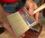 Natural bristle paintbrush