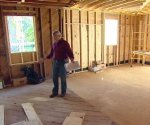 Danny Lipford showing the kitchen expansion in the Kuppersmith Project house
