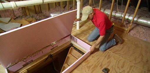 DIY Fold Down Attic Stair Insulation Todays Homeowner