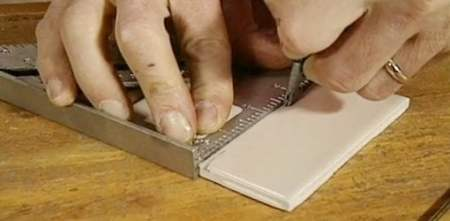 How to Cut Ceramic Tile with a Glass Cutter   Today s Homeowner Scoring ceramic tile with a glass cutter to cut the tile to size