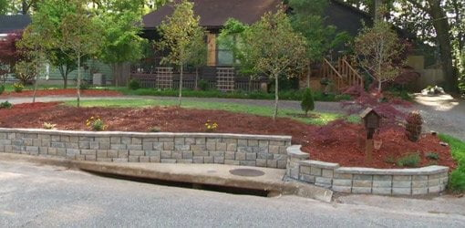 Building a diy block retaining wall todays homeowner page 35 completed diy stackable block retaining wall solutioingenieria Images