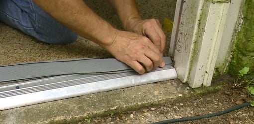 How To Replace An Entry Door Threshold Todays Homeowner