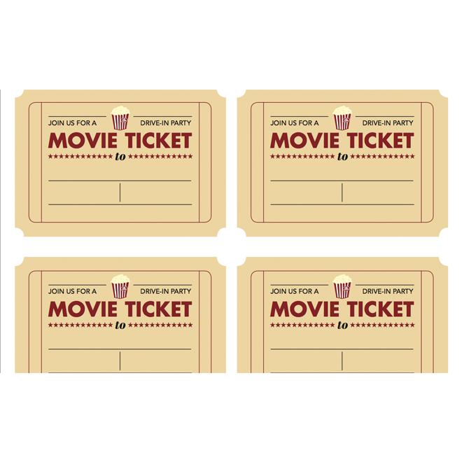 Movie Ticket Invitation Template Free Printable – Movie Invitation Template Free