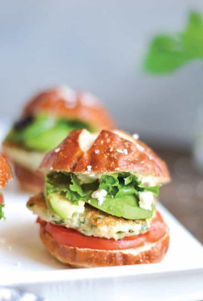 Green Goddess Chicken Salad Sliders
