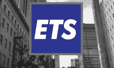 Edmonton downtown buildings with ETS logo