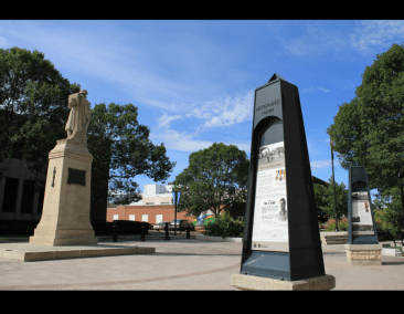 Red Deer Cenotaph today (photo by Lloyd Lewis)