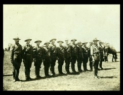 Lionel Page and his troop of men after the turn of the last century.
