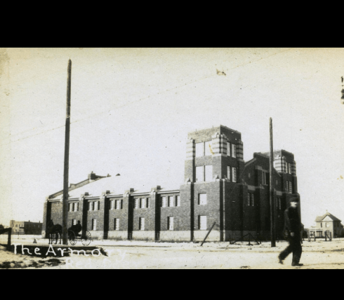 Red Deer's Armouries, 1914. Photo P389