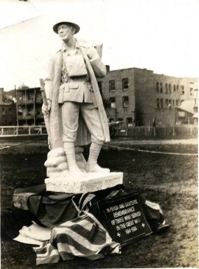 Unknown Soldier Statue before installation, 1922 Red Deer Archives P2759