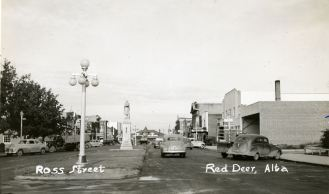 Cenotaph c. 1947 Red Deer Archives P2832