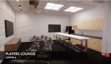 Junior A players lounge