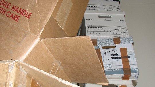 Uhaul boxes moving