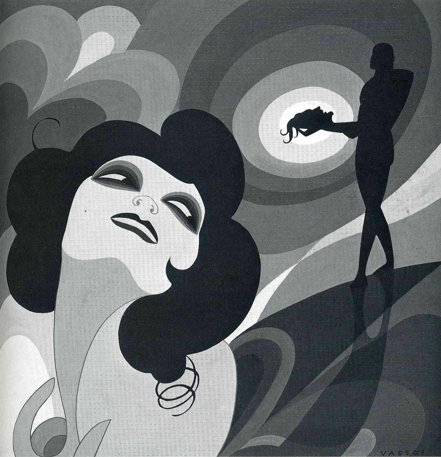 "Illustration for Oscar Wilde's ""Salome"". Art Decom 1927"