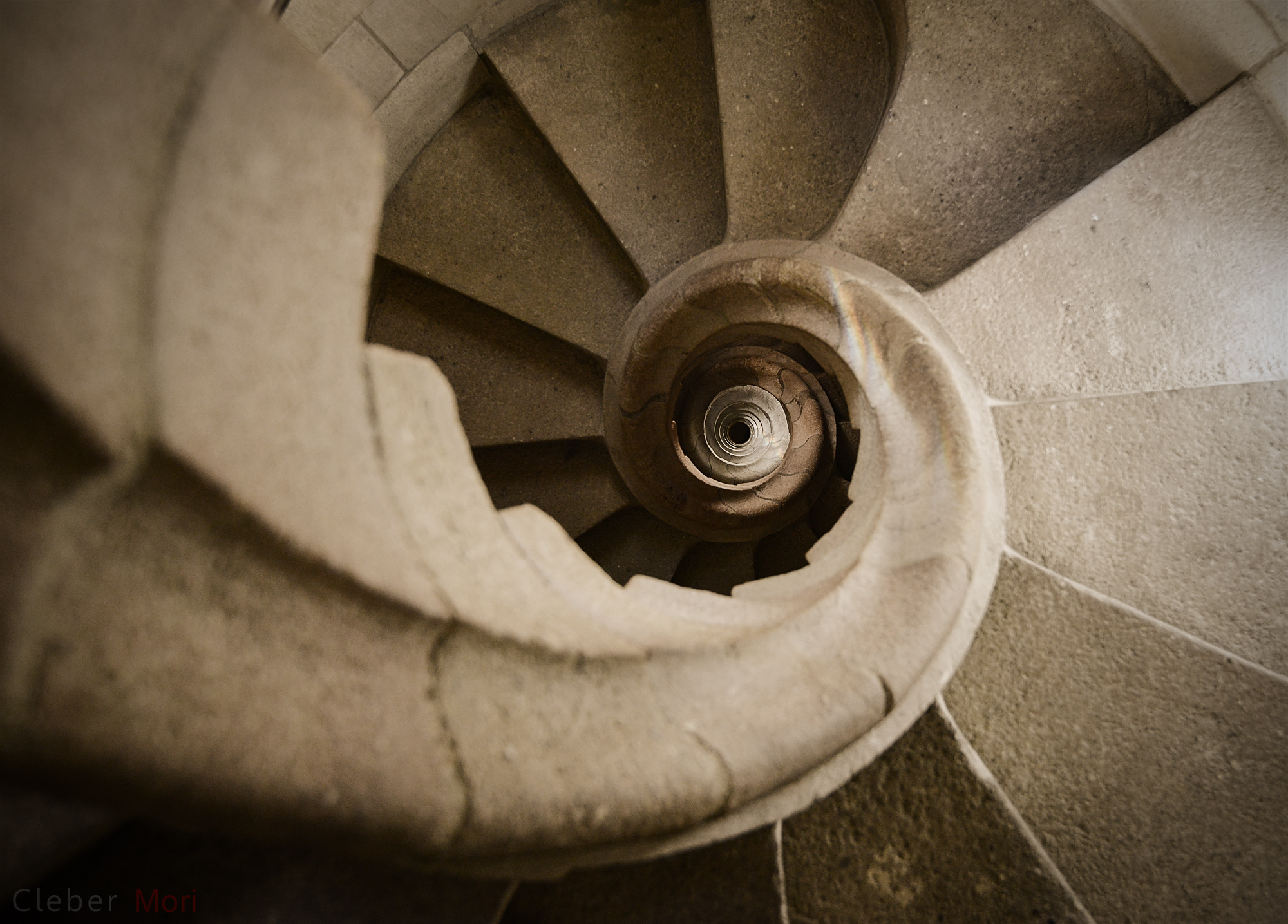 Stairs at the Sagrada Familia, Barcelona. Image credit Cleber Mori.