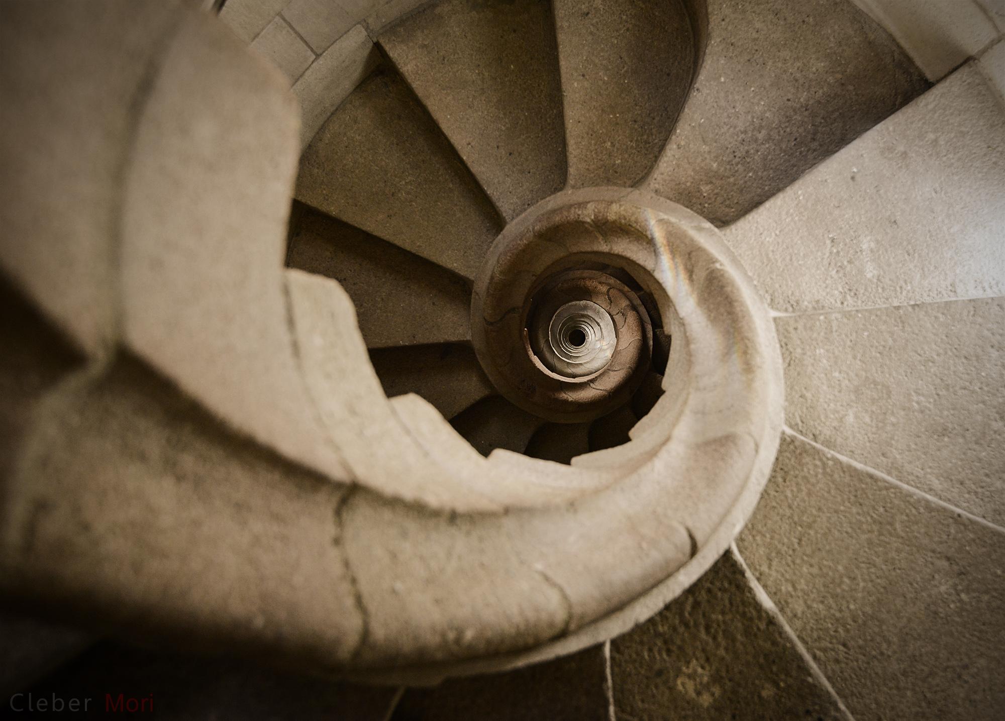 Stairs at the Sagrada Familia, Barcelona. Image credit Cleber Mori.