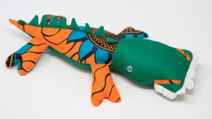 Green stuffed crocodile