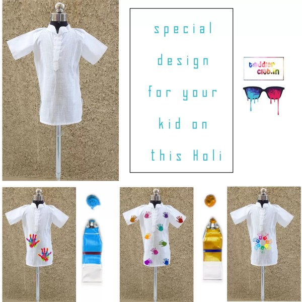 23 white holi shirts for boys
